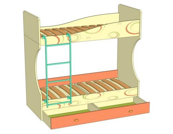 Кровать-чердак Фруттис 503.030