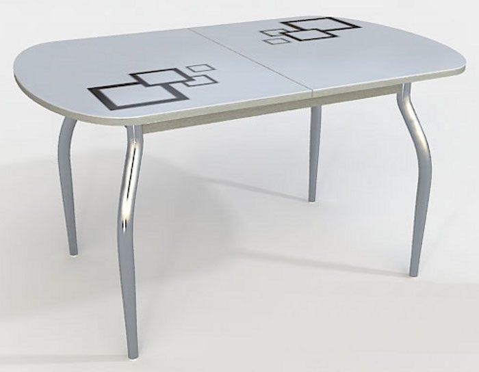 Стол стеклянный раскладной Сольди квадро