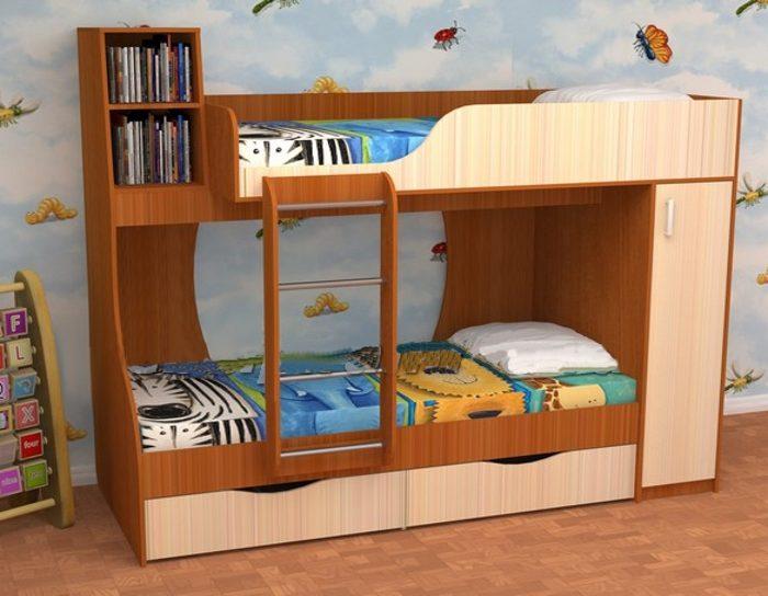 Детская кровать 2-ярусная Башмачок
