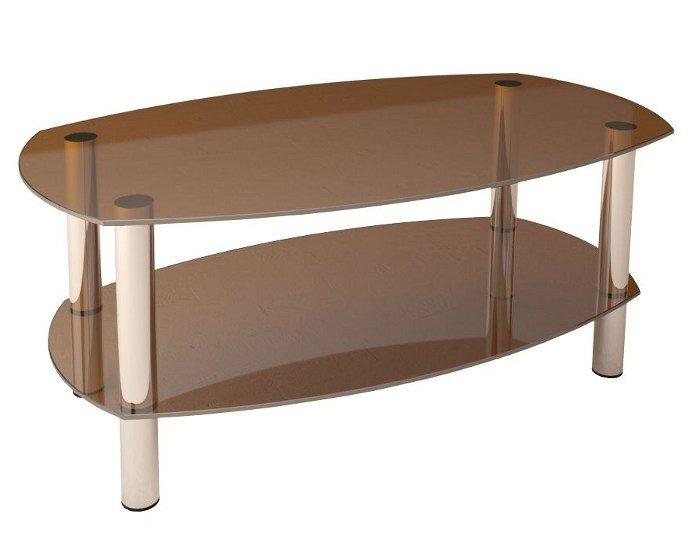 Журнальный стеклянный стол Беседа-3