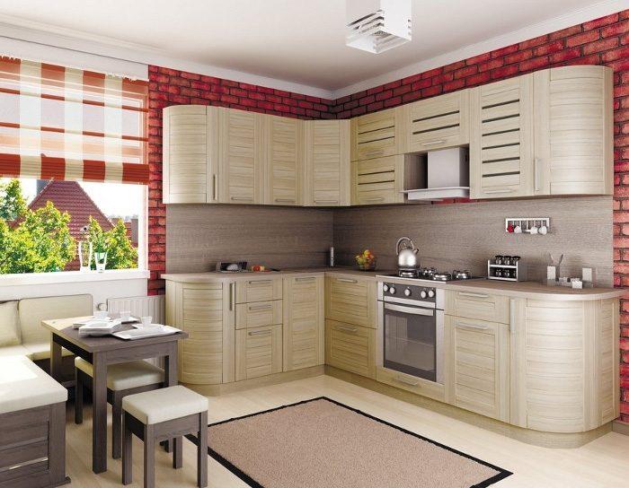Кухня Анастасия тип 3 (сонома светлая)