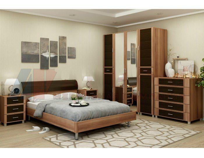 Модульная спальня Камелия слива валлис