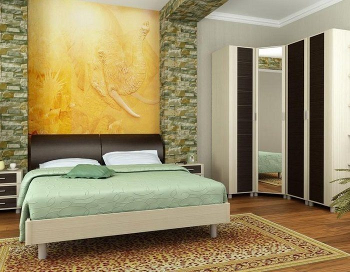 Модульная спальня Камелия дуб беленый