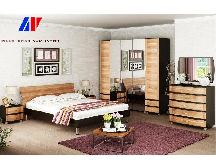 Модульная спальня Дольче Нотте слива валлис