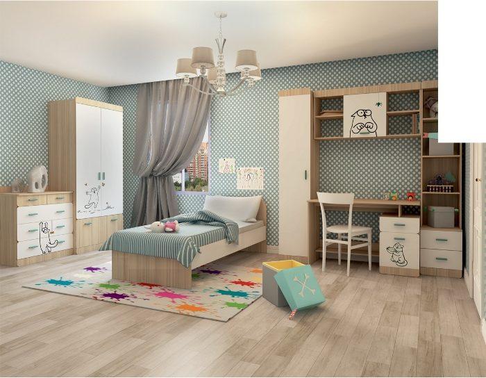 Модульная детская мебель Кот