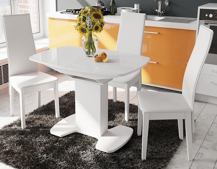 Стол раскладной стеклянный Портофино 1100 белый