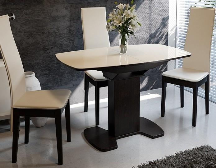 Стол раскладной стеклянный Портофино 1100 венге