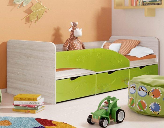 Детская кровать Бриз-3 лайм