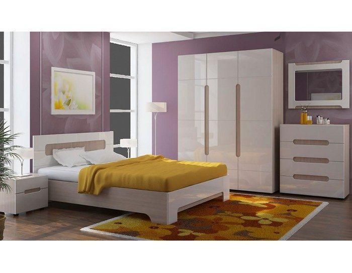Спальня Палермо белый глянец