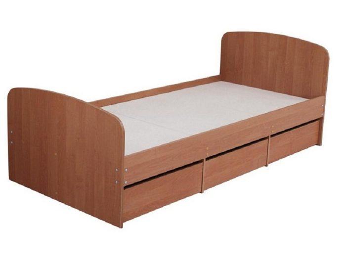 Кровать с ящиками К-9 (6 цветов)