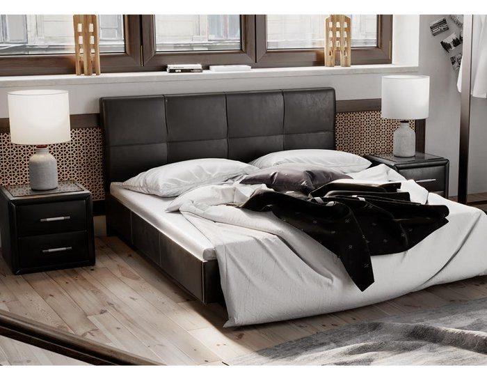 Кровать мягкая Элис тип 1 коричневая