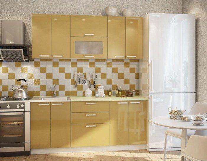 Кухня Фиджи 1.8 золотой металлик