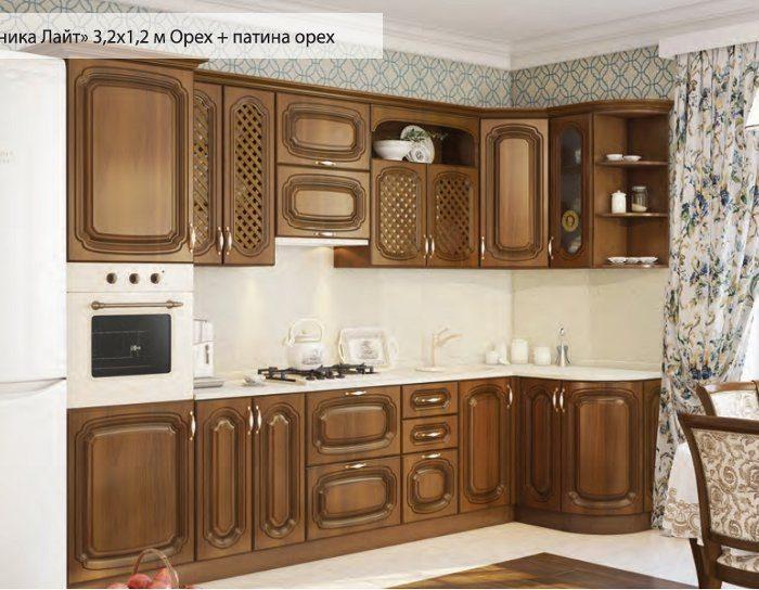 Модульный кухонный гарнитур Моника с патиной