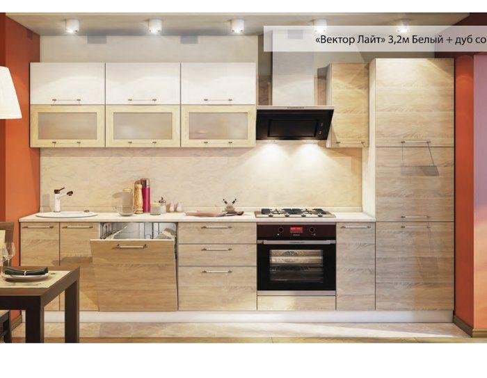 Кухня Вектор белый сонома