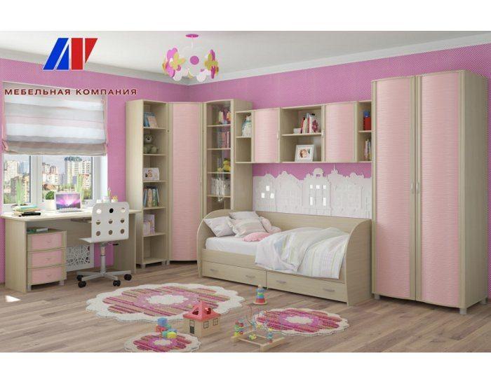 Модульная детская мебель Валерия розовая