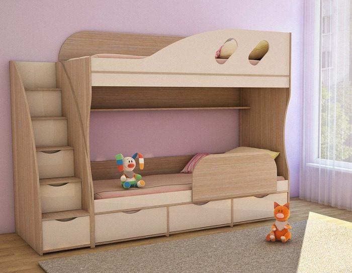 Детская кровать двухъярусная Детка
