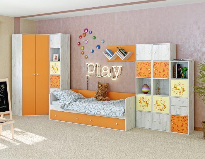 Модульная детская мебель Тетрис 1 комплект 3