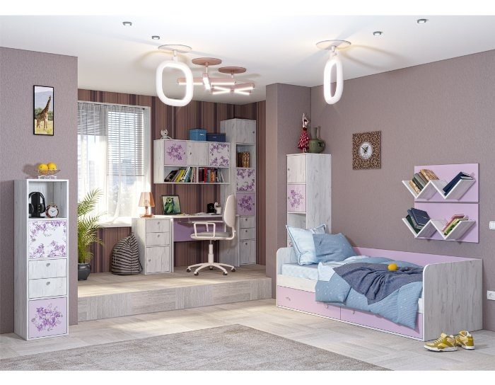 Модульная детская мебель Тетрис 1 комплект 2