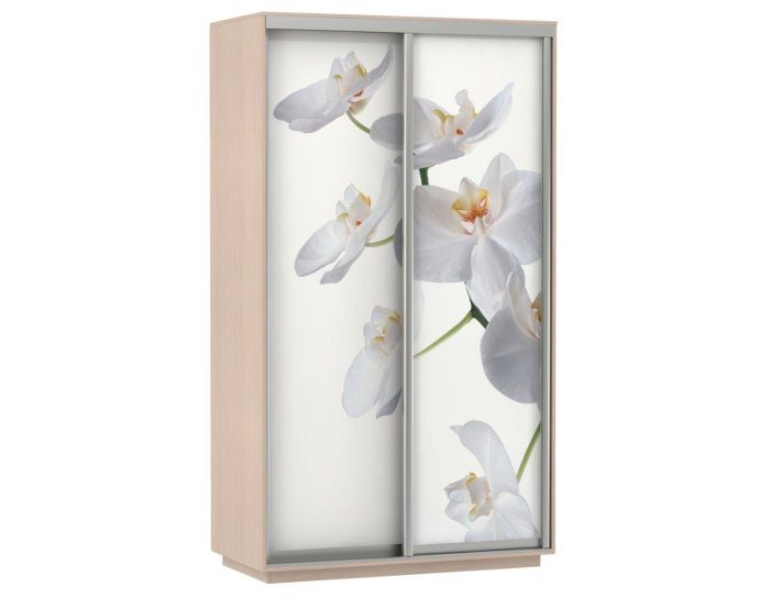 Шкаф-купе Дуо 140 (фотопечать орхидея)