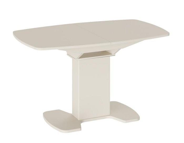 Стол раскладной стеклянный Портофино бежевый 1,3 метра