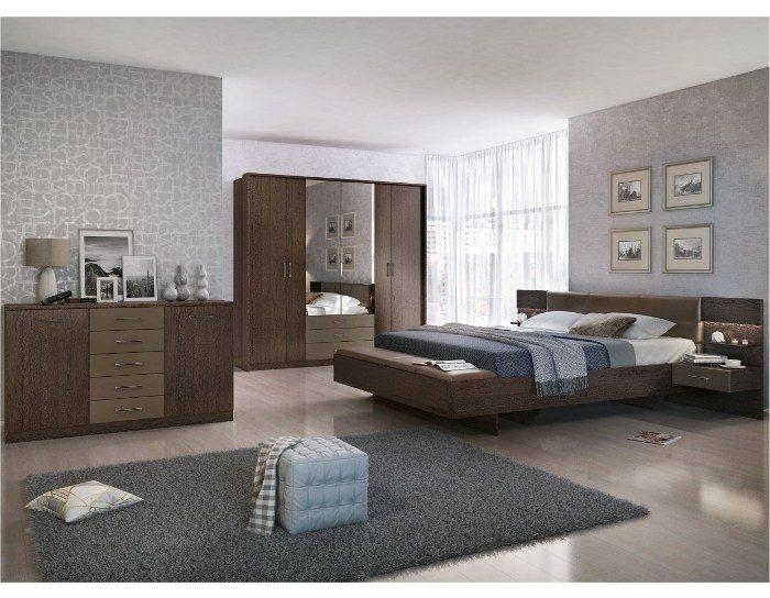 Модульная спальня Беата венге шоколад матовый
