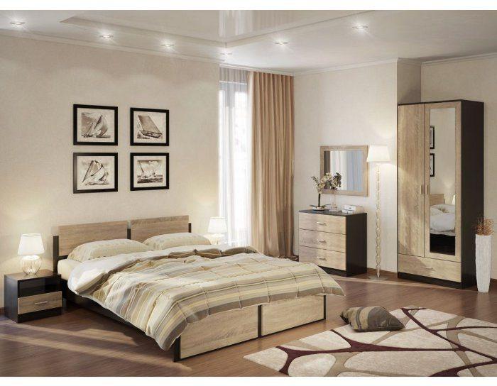 Модульная спальня Эрика венге сонома