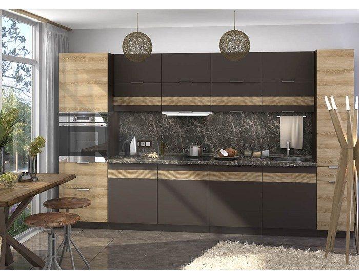 Кухонный гарнитур Терра цвет смоки софт