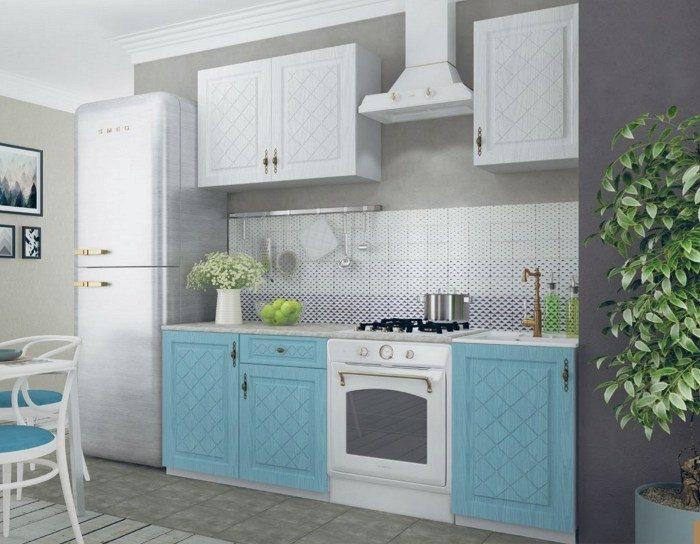 Кухня Гранд белый зеленый