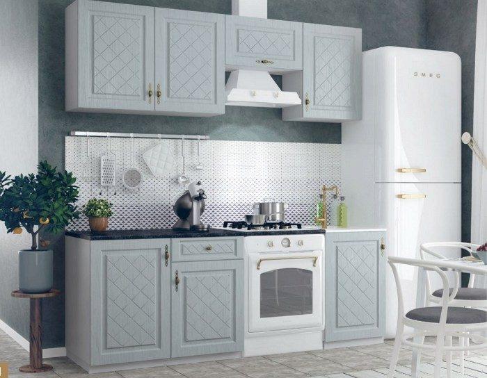 Кухонный гарнитур Гранд цвет пепел