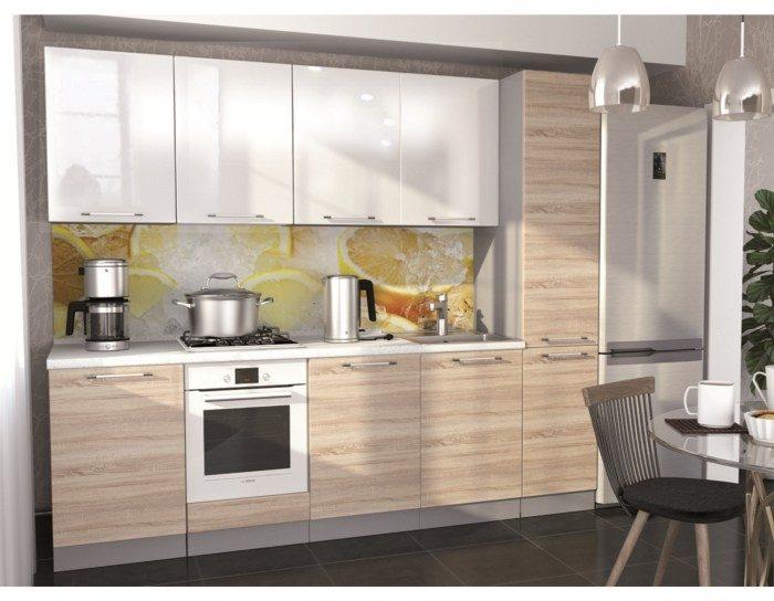 Кухонный гарнитур Олива цвет сонома