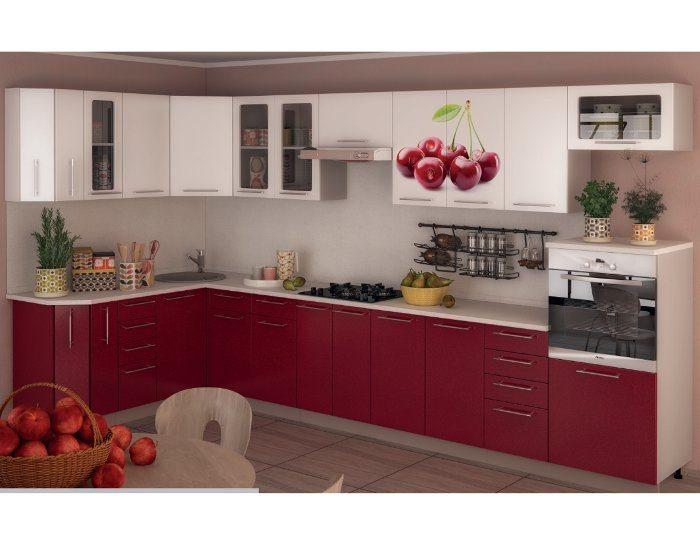 Кухонный гарнитур Олива фото вишня