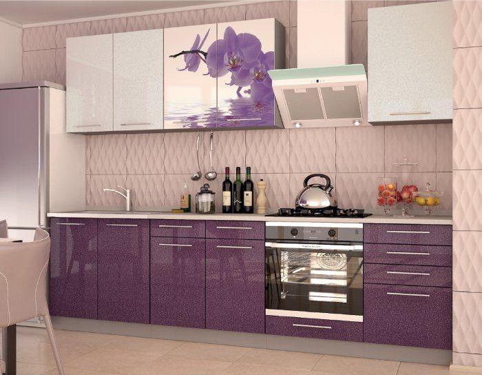 Кухонный гарнитур Олива фото орхидея