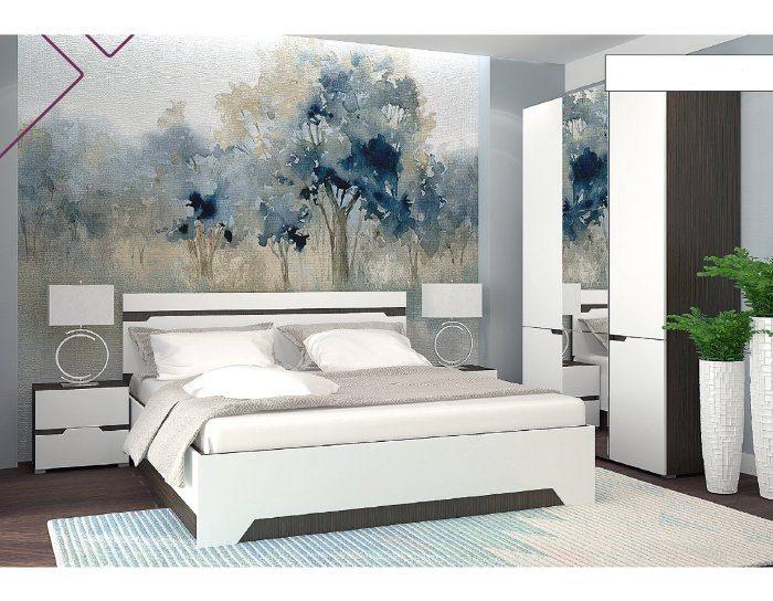 Модульная спальня Анталия венге белый софт