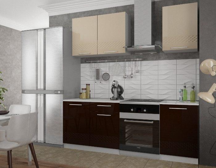 Кухонный гарнитур Капля Капучино Шоколад