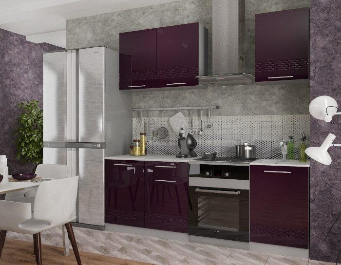 Кухонный гарнитур Капля в цвете Баклажан