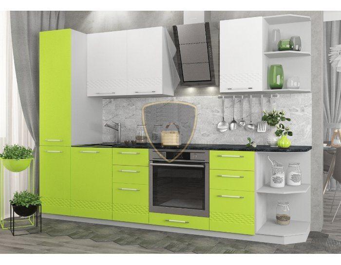 Кухонный гарнитур Капля Белый Лайм