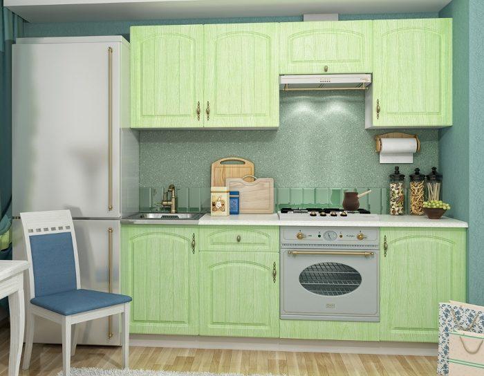 Кухонный гарнитур Монако цвет фисташка