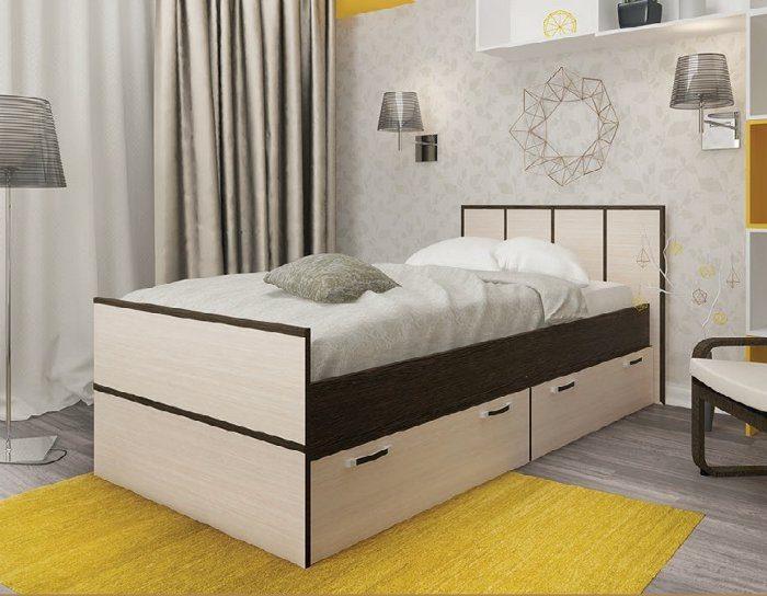 Кровать с ящиками Весна 1,05 метра