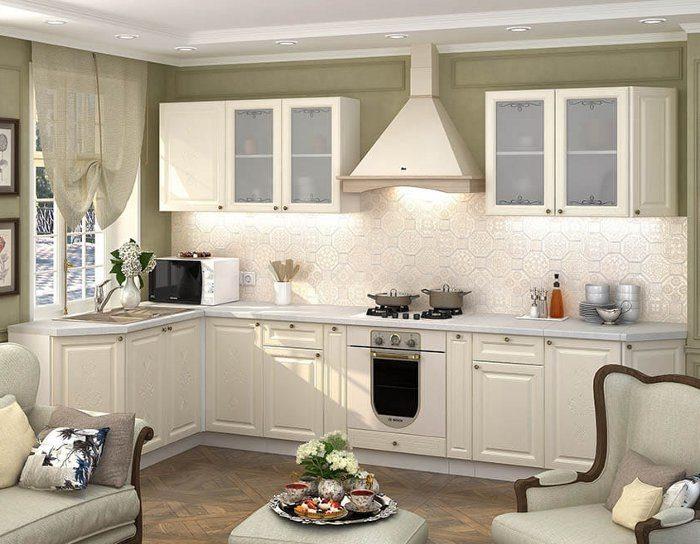 Кухонный гарнитур Версаль цвет ваниль софт