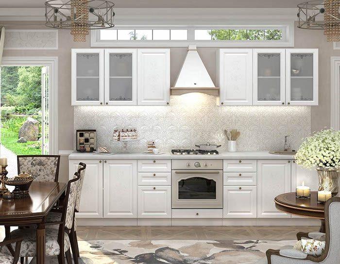 Кухонный гарнитур Версаль цвет белый софт