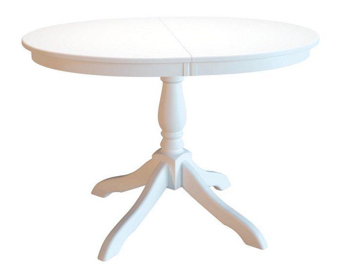 Стол обеденный раскладной Романс белый