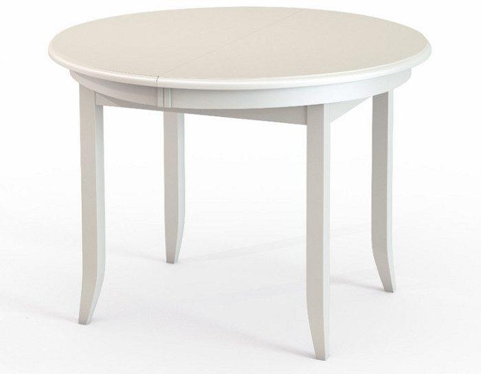 Стол обеденный раскладной Балет белый