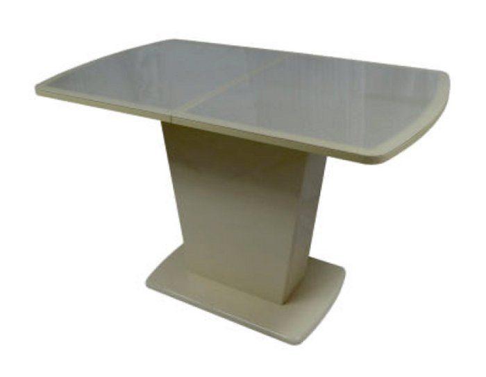 Стол раскладной стеклянный Стювер кожа
