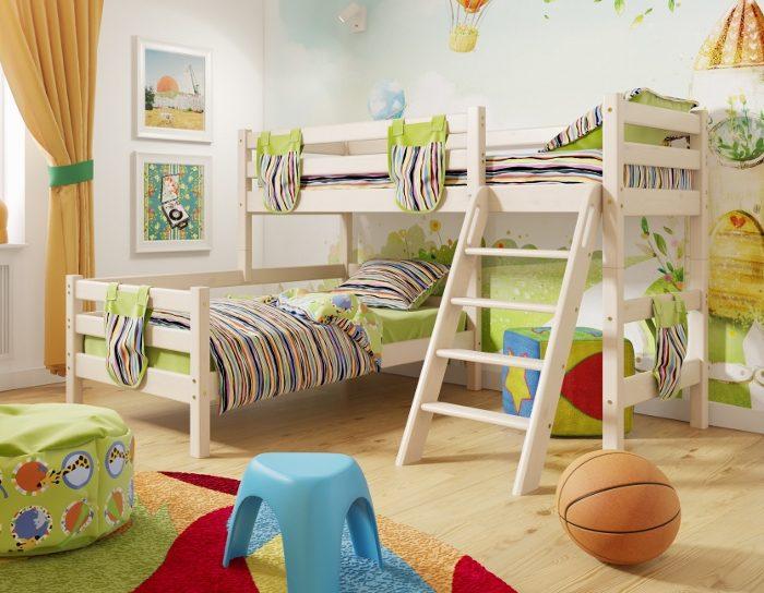 Детская деревянная кровать Соня 8