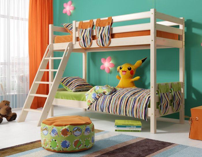 Детская деревянная кровать Соня 10