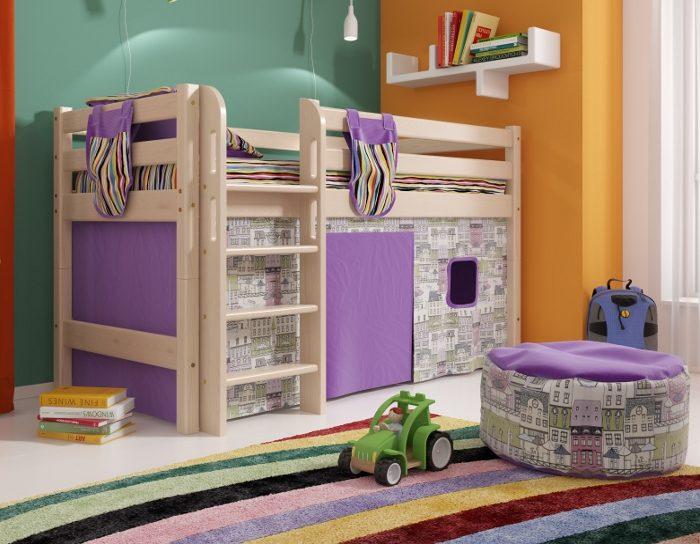 Детская деревянная кровать Соня 11