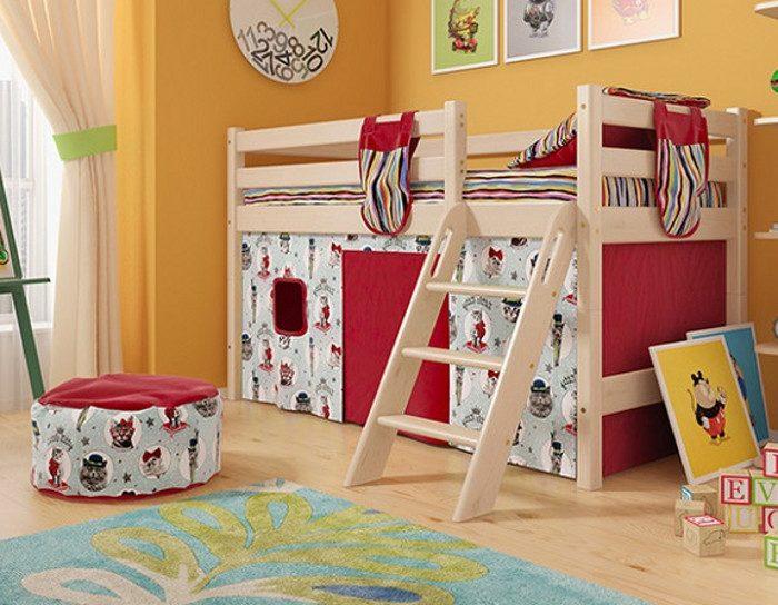 Детская деревянная кровать Соня 12