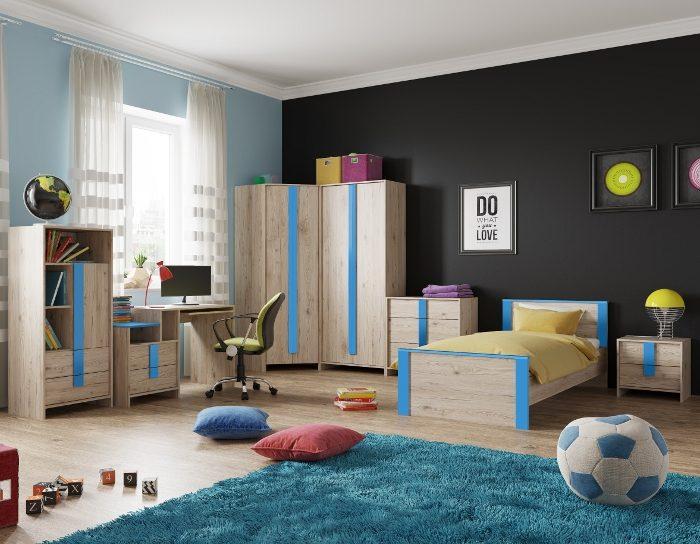 Модульная детская мебель Скаут индиго