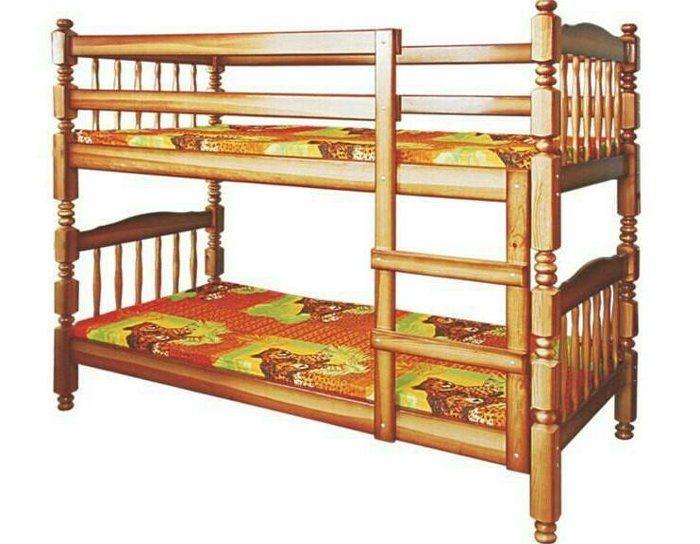Детская деревянная кровать Людмила-Люкс 1