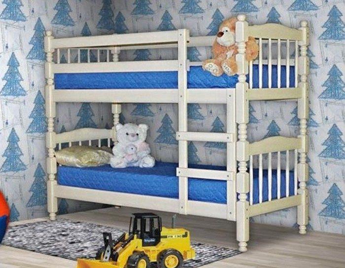 Детская деревянная кровать Людмила-Люкс 1 белая